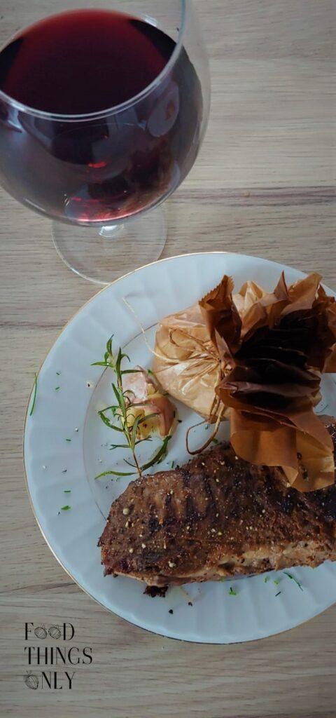 Rump steak medium rare